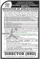 National Highway Authority NHA Internship Training Program 2021