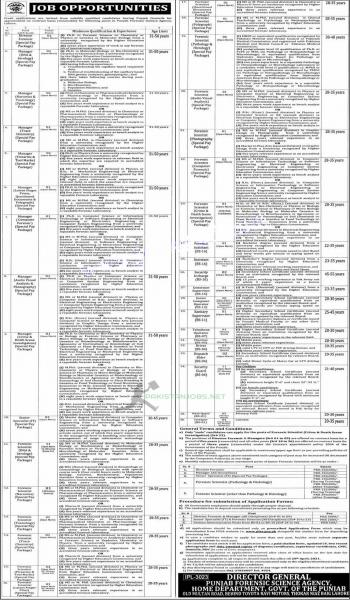 Apply Now for Punjab Forensic Science Agency Jobs 2021