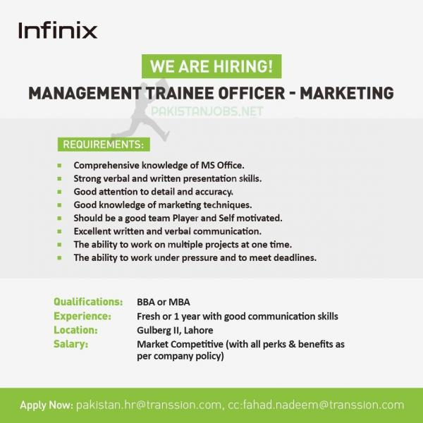 Infinix Mobile Company Jobs 2021 Latest Advertisement