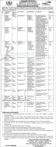 Ministry Of Climate Change Jobs April 2021