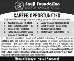 Fauji Foundation Latest Jobs 2021 April