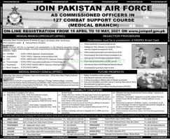 Join PAF Jobs 2021 As Medical (Branch) Specialists Online Registration