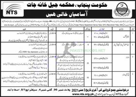Punjab Prison Department NTS Jobs 2021- Download  Application Form
