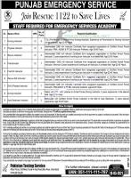 Rescue 1122 Jobs 2021 Punjab PTS Online Apply & Form