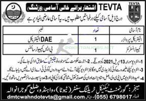 TEVTA Jobs 2021 Advertisement Application Form