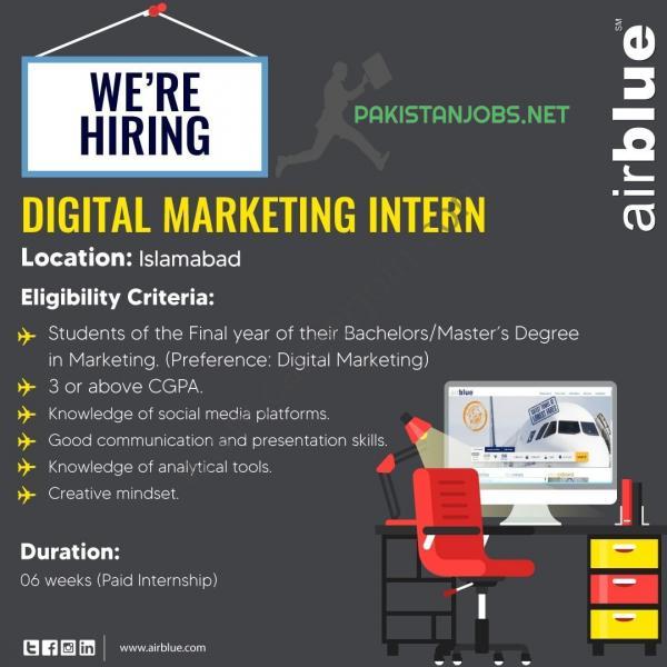 Airblue Digital Marketing Jobs 2021 Latest
