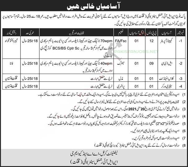 Nli Regimental Center Of The Pakistani Army Jobs 2021