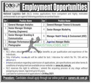 NLC – National Logistics Cell Jobs May 2021