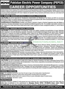 Pakistan Electric Power Company (PEPCO) Jobs 2021