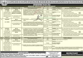 Department of Special Education Jobs through PPSC May 2021