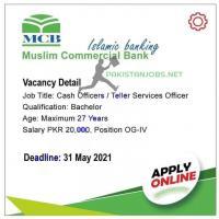 Muslim Commercial Bank MCB Jobs 2021