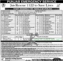 Punjab Rescue 1122 Jobs May 2021 Advertisement