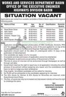 Works and Services Department Jobs 2021