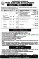 Prime Minister Office Public Jobs 2021 - www.pmo.gov.pk Application Form