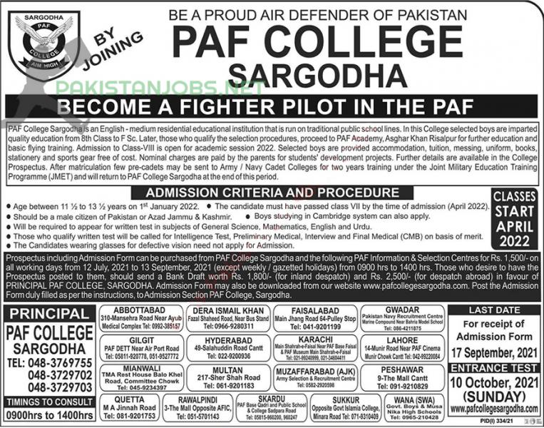 BECOME A FIGHTER PILOT IN THE PAF JOBS 2021