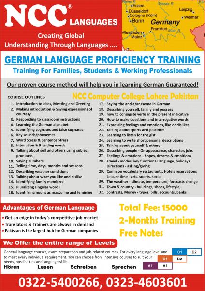 German Language Courses Lahore Pakistan