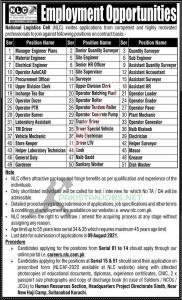 NLC Jobs 2021 – Advertisement by National Logistics Cell - Apply Online