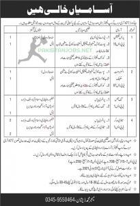 Pak Army Jobs 2021 Headquarters 477