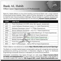 Bank AL Habib Offers Career Opportunities to IT Professionals 2021