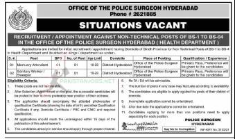 Police Surgeon Office Jobs in Pakistan 2021