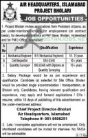PAF Air Headquarters AHQ Jobs 2021 Apply Now