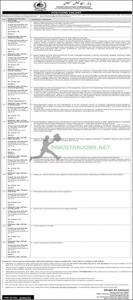 HEC Jobs 2021 Higher Education Commission