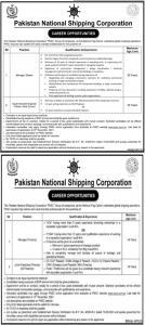 Pakistan National Shipping Corporation PNSC 2021 Jobs Oct 2021