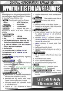 Pak Army Ghq Rawalpindi Jobs 2021