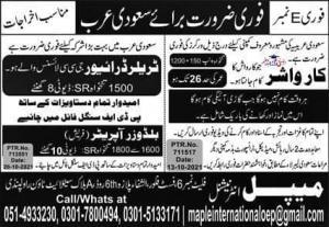 Saudi Arabia Jobs 2021 October New Ad