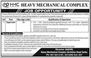 Heavy Mechanical Complex HMC Jobs Oct 2021