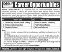 NLC Career Opportunities 2021