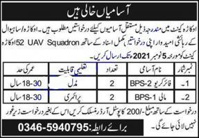 Pak Army 52 Uav Squadron Jobs 2021