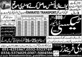 Taxi Driver Jobs In UAE Latest
