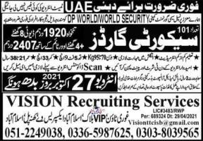 UAE For Security Workers Jobs in 2021